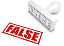"""""""FALSE"""" rubber stamp. Part of a rubber stamp series."""